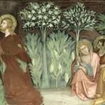 Gethsémani Barna da Siena. (14e) Fresque (détail) Collégiale de San Gimignano