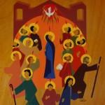 La Pentecôte (peinture sur bois, Cénacle de Versailles)