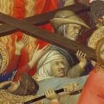 Le portement de croix (détail) par Simone Martini (14e)