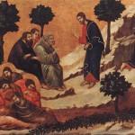 Duccio : Maestà : l'agonie au jardin des Oliviers. 1308-1311. Tempera sur bois, 51 x 76 cm. Sienne, musée de l'Œuvre du Dôme