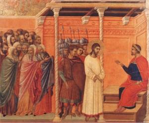 Jésus devant Pilate Duccio di Buoninsegna (14e)