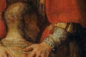 Le retour de l'enfant prodigue Rembrandt (détail) (1654)