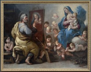 Saint Luc peignant la Vierge par Luca Giordano (17e)